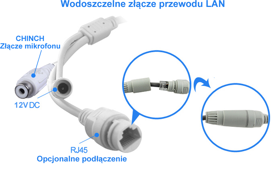 Zestaw Monitoring RTX 4x kamera IP 4Mpx P2P PoE Marka Inna