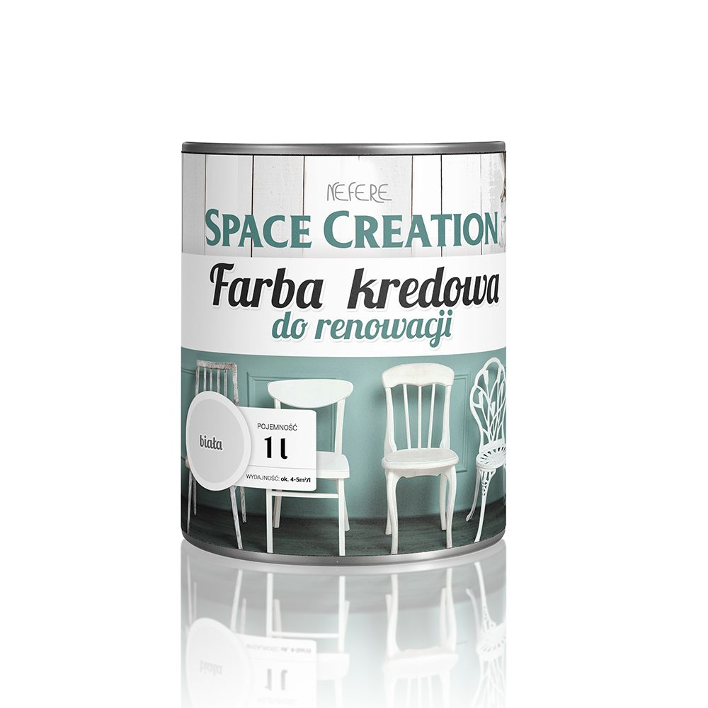 Item The paint is this chalky white for period furniture restoration, Chalk Paint
