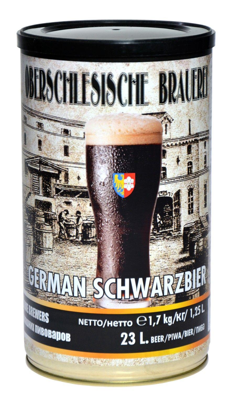 пиво Германий SCHWARZBIER +дрожжи солод пивоварение 23L