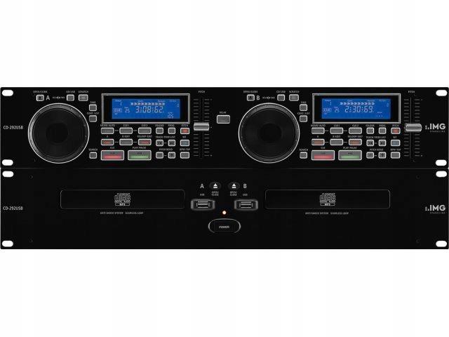 Item Monacor CD-292USB - Dual CD/MP3 player, DJ