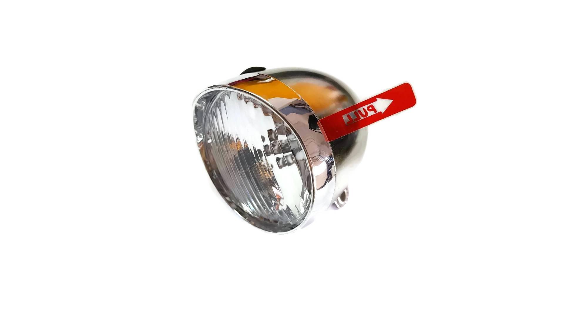 Predné svetlo na bicykel napájané 3 LED retro batériou