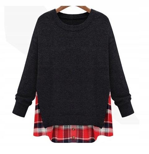 Cardigan dlhý sveter pre ženy pončo ročník XL 42
