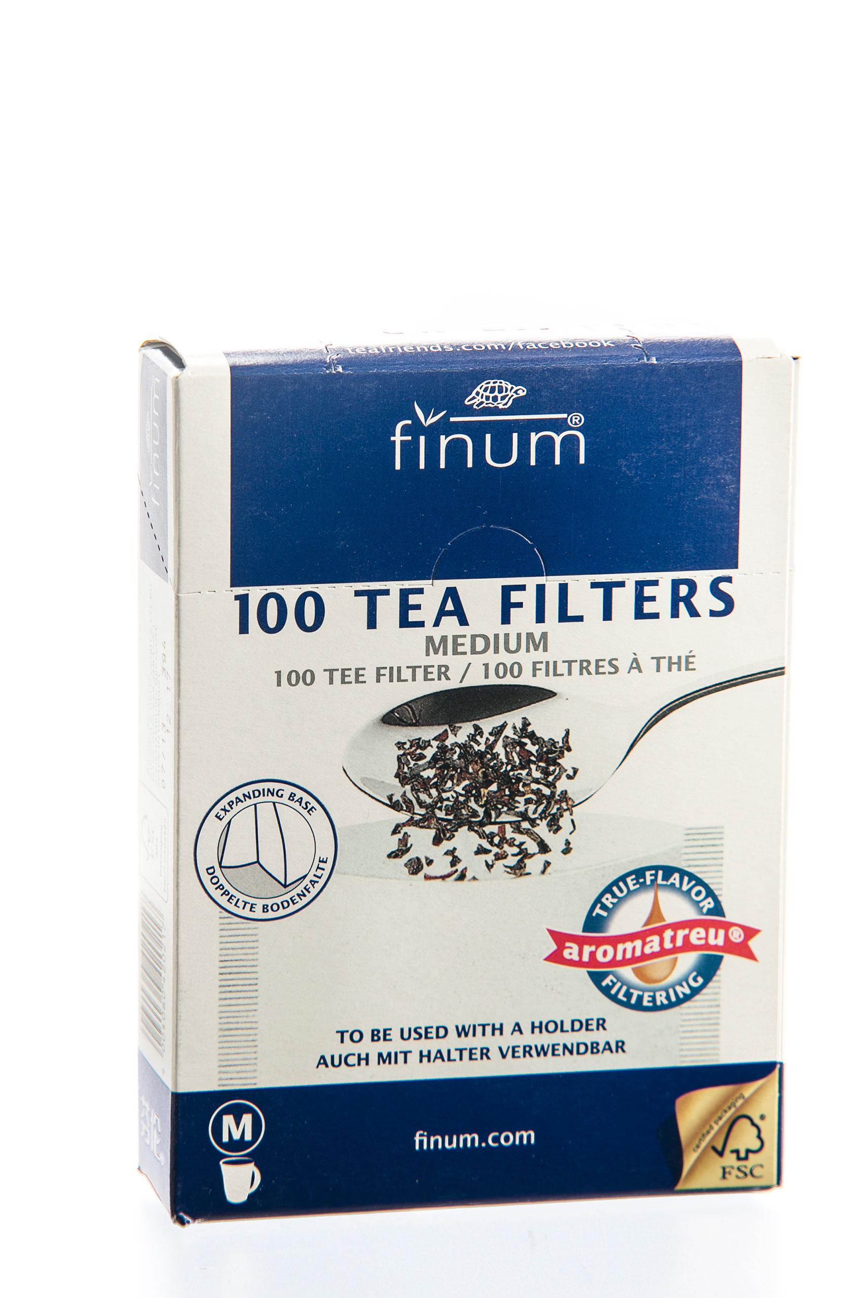 Filtry papierowe FINUM 100szt Rozmiar M