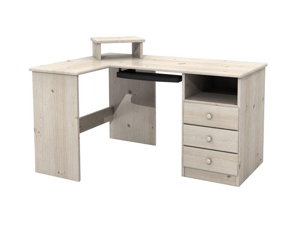 Stôl ELKA rohu BIELA - DSI-drevený nábytok