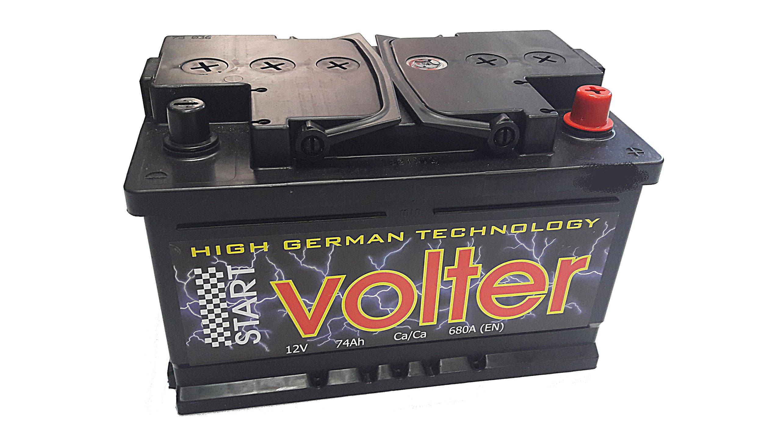 аккумулятор volter 80ah 750a