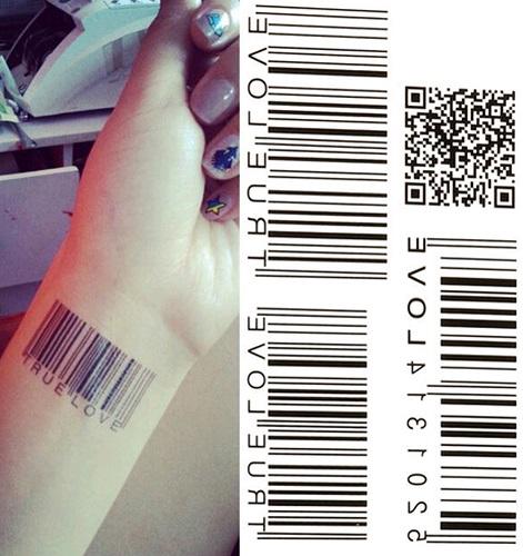 Tattoo Body Art Tatuaż Zmywalny Kod Kreskowy