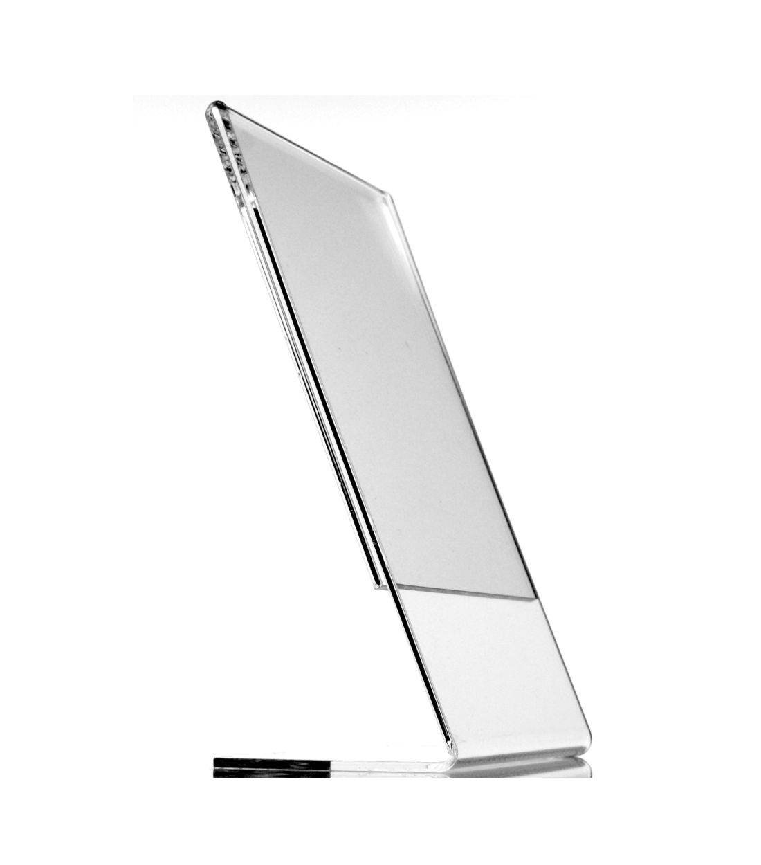 Item Stand advertising the description L A6 PEONY Plexiglass ECONOMIC