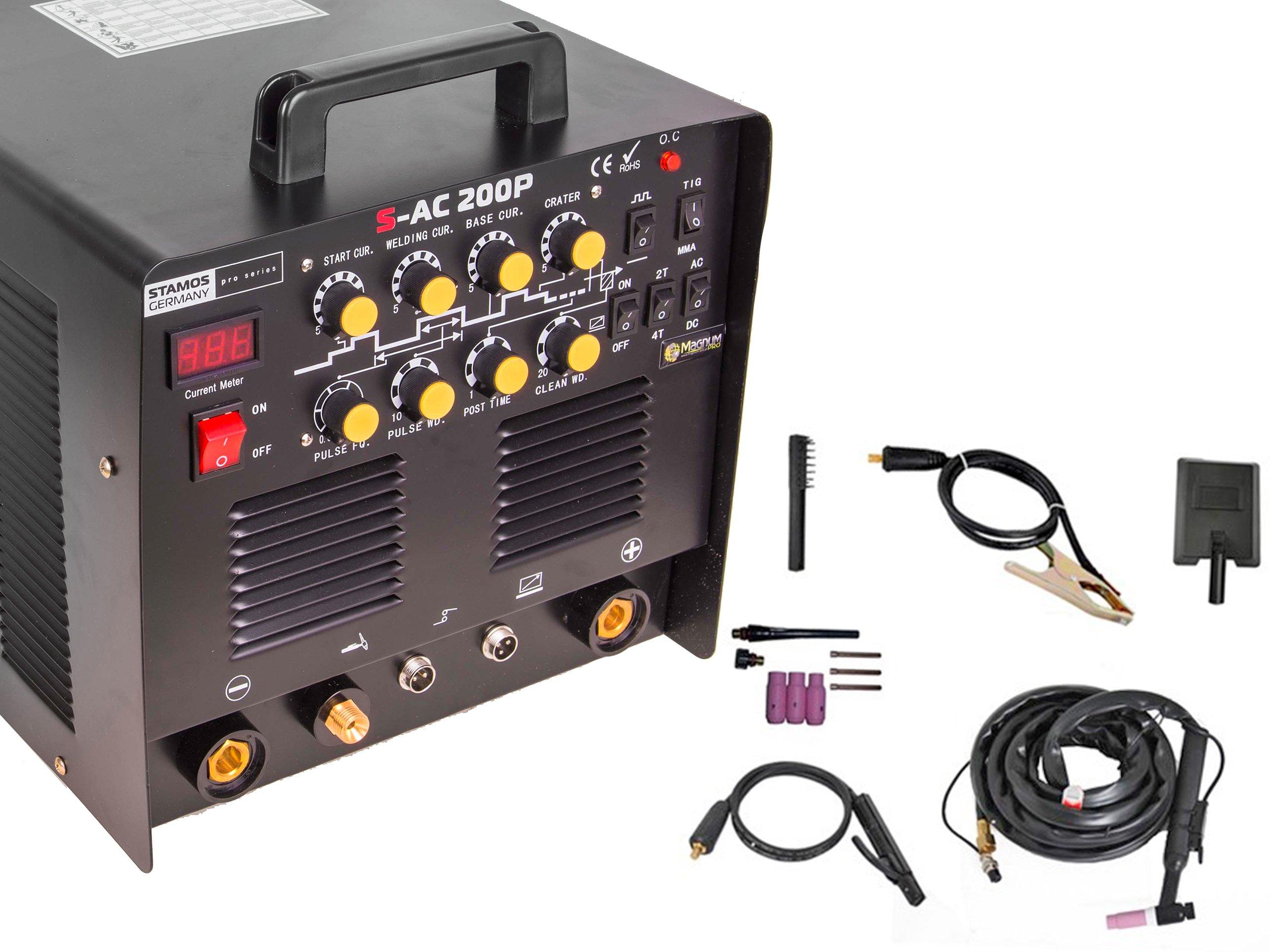 TIG 200 AC DC MMA Pulzný kábel 8m + zvárač pedálu