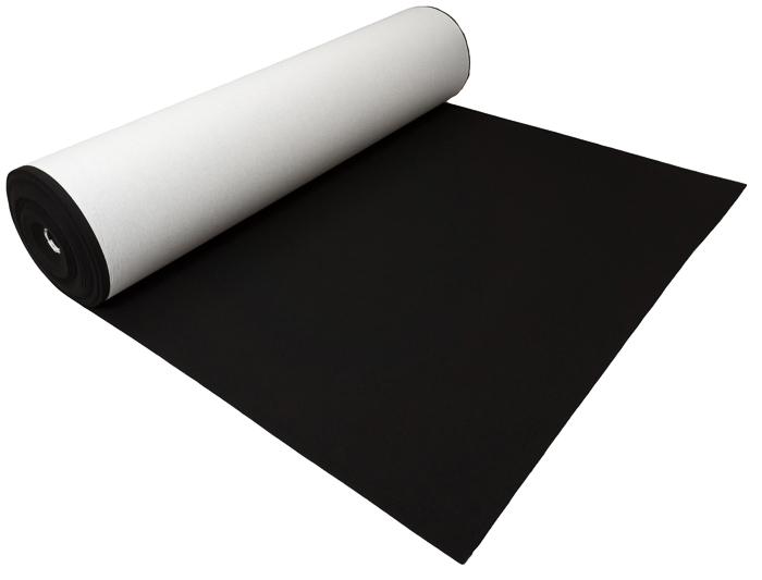 войлок САМОКЛЕЯЩАЯСЯ Черный 4 мм 600 Г м2 - Ноль .5 м2