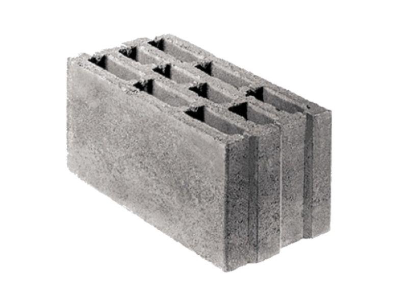 Шлакоблок ALFA 24x24x49 шлак, 8 шт / м2