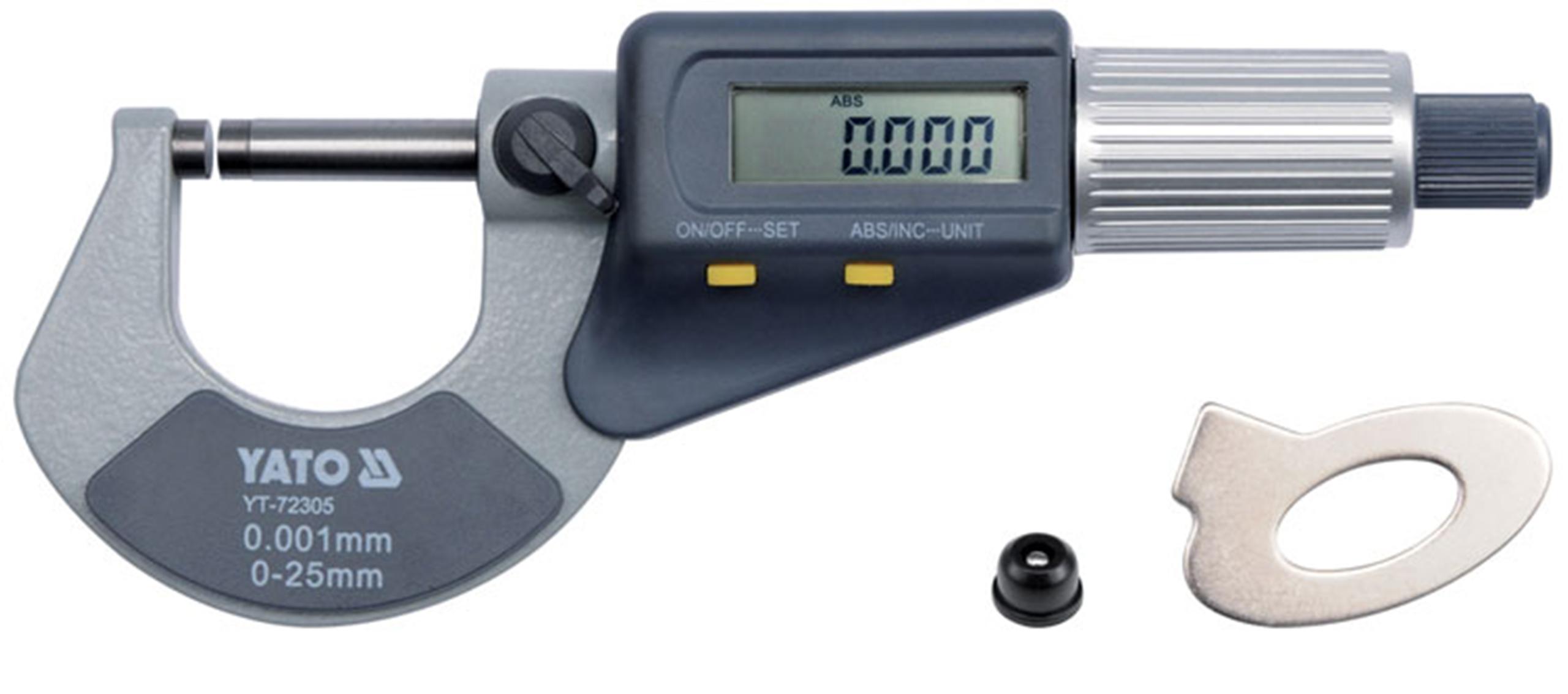 Mikrometr elektroniczny 0-25mm cyfrowy LCD YATO