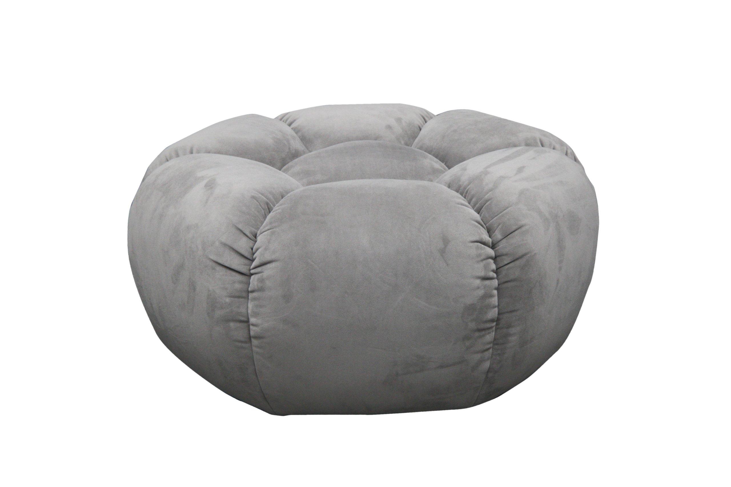 Kufr na kreslo Prešívané zamatové velúrové šedé MUSTER