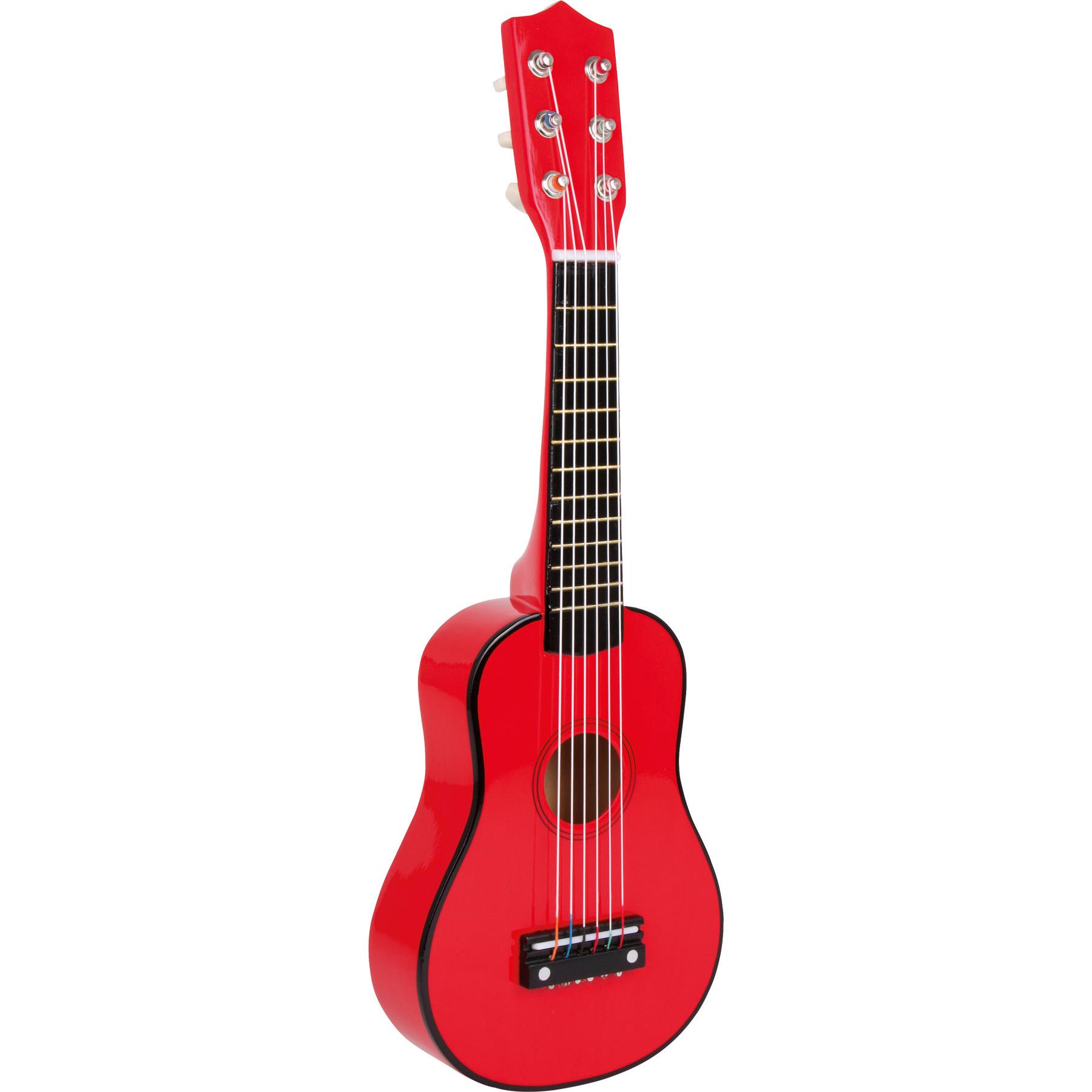 Gitara pre deti klasické červené 53 cm drevo