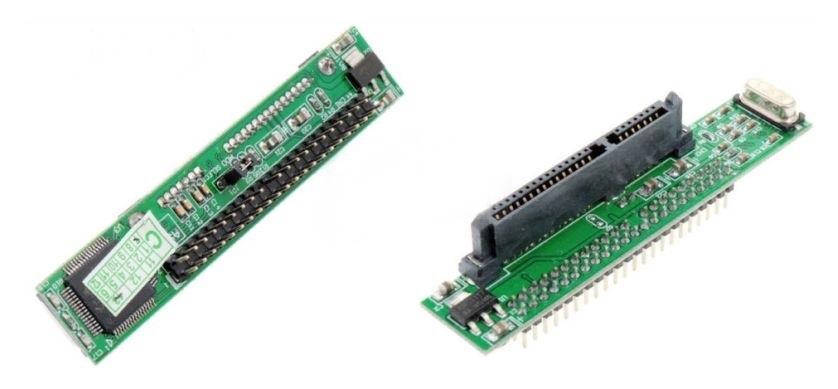 Угловой адаптер SATA - IDE, 44 контакта, 2,5-дюймовый накопитель