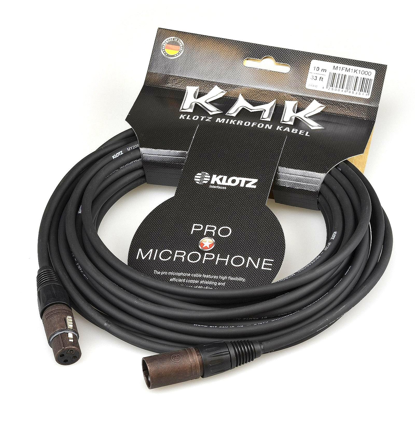 Item KLOTZ KMK MIC cable 10m XLR NEUTRIK CANON