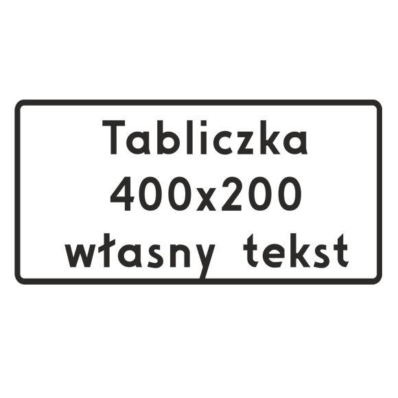 Cestné pole Akýkoľvek text 200x400