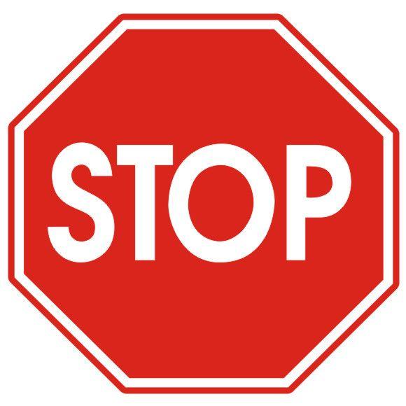 Stop Mark Sticker, LICO znamenie B20 400mm, typ I