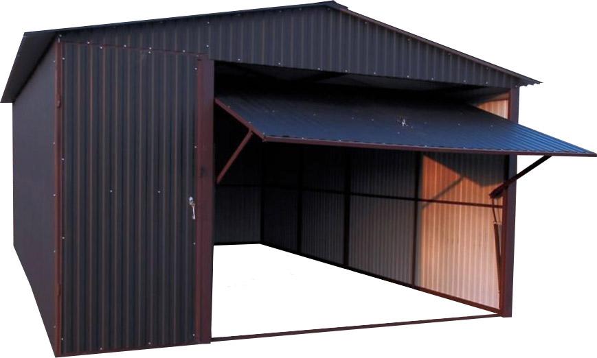 Tin Garages 4x6 Garage Blaszak Черный мат