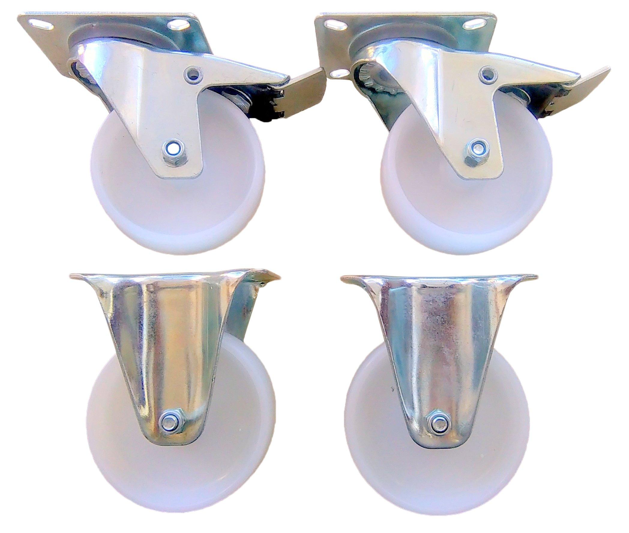 Комплект 4-х колес 100 мм колесо колесо полиамид колеса