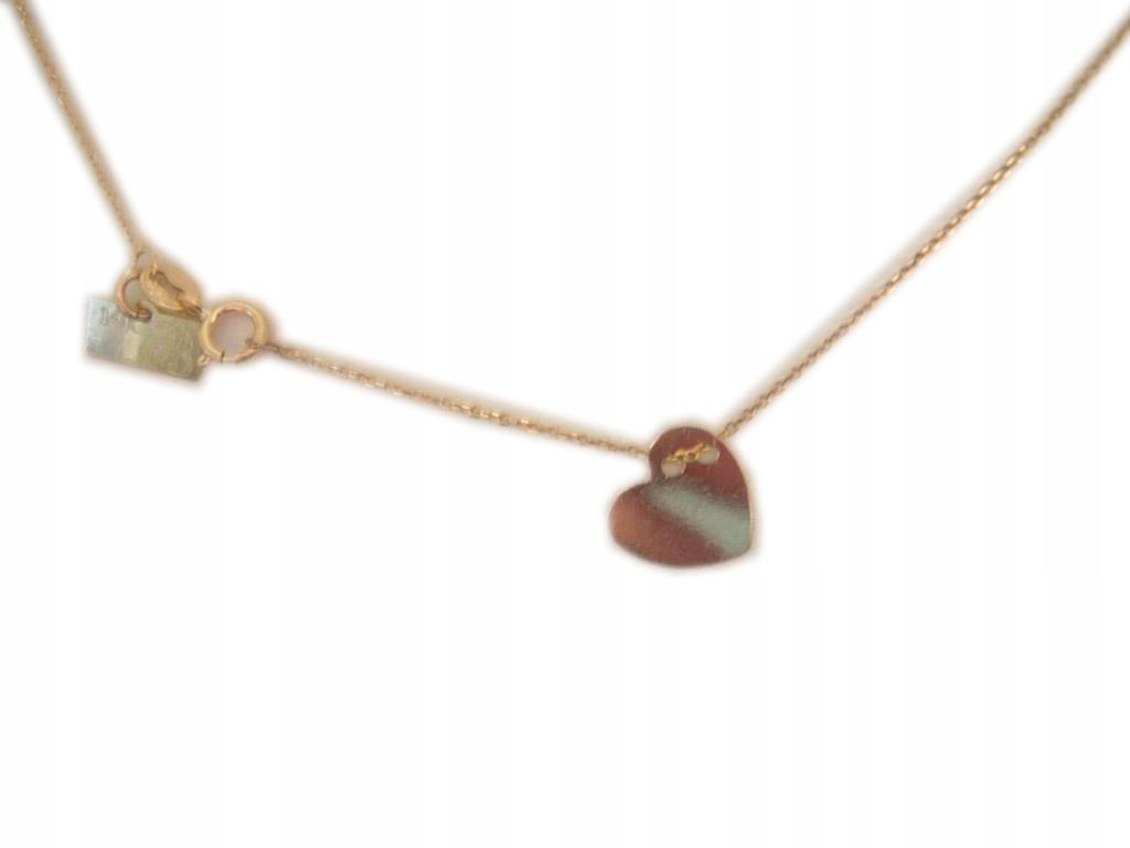 Krásny Zlatý prívesok srdce Celebrytka! 0.585