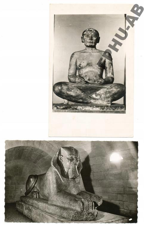 PARYŻ - LOUVRE posągi Sfinx
