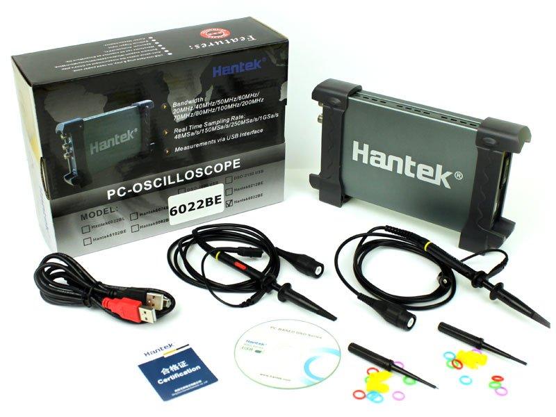 __ OSCYLOSKOP CYFROWY 2 x 20MHZ _ HANTEK6022BE USB
