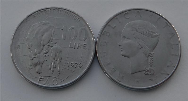 Taliansko 100 litrov 1979 FAO