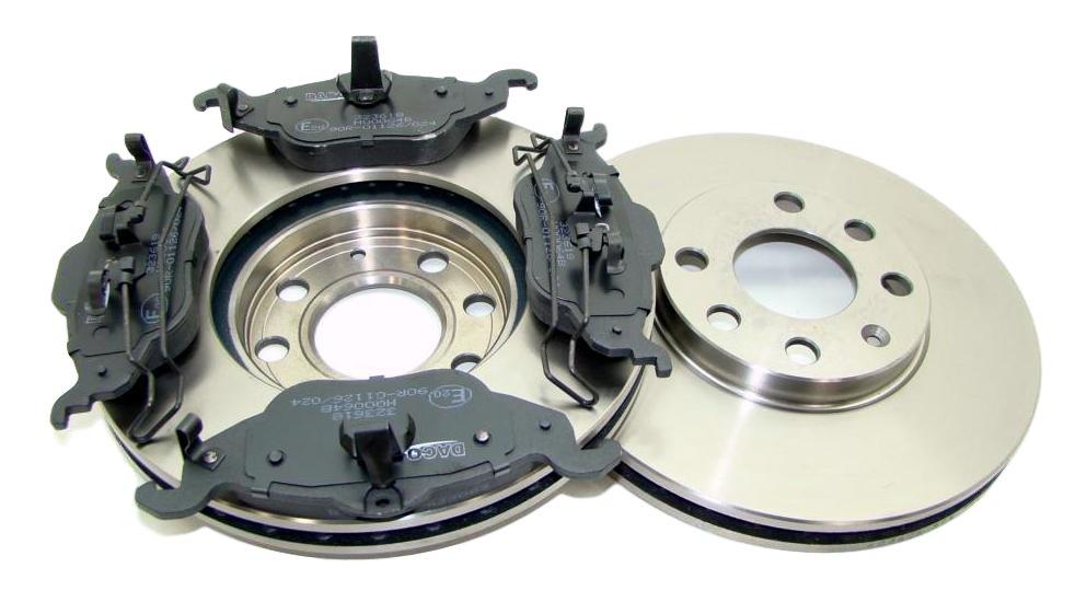 диски x2 колодки к opel astra g ii 98- 4śr вперед