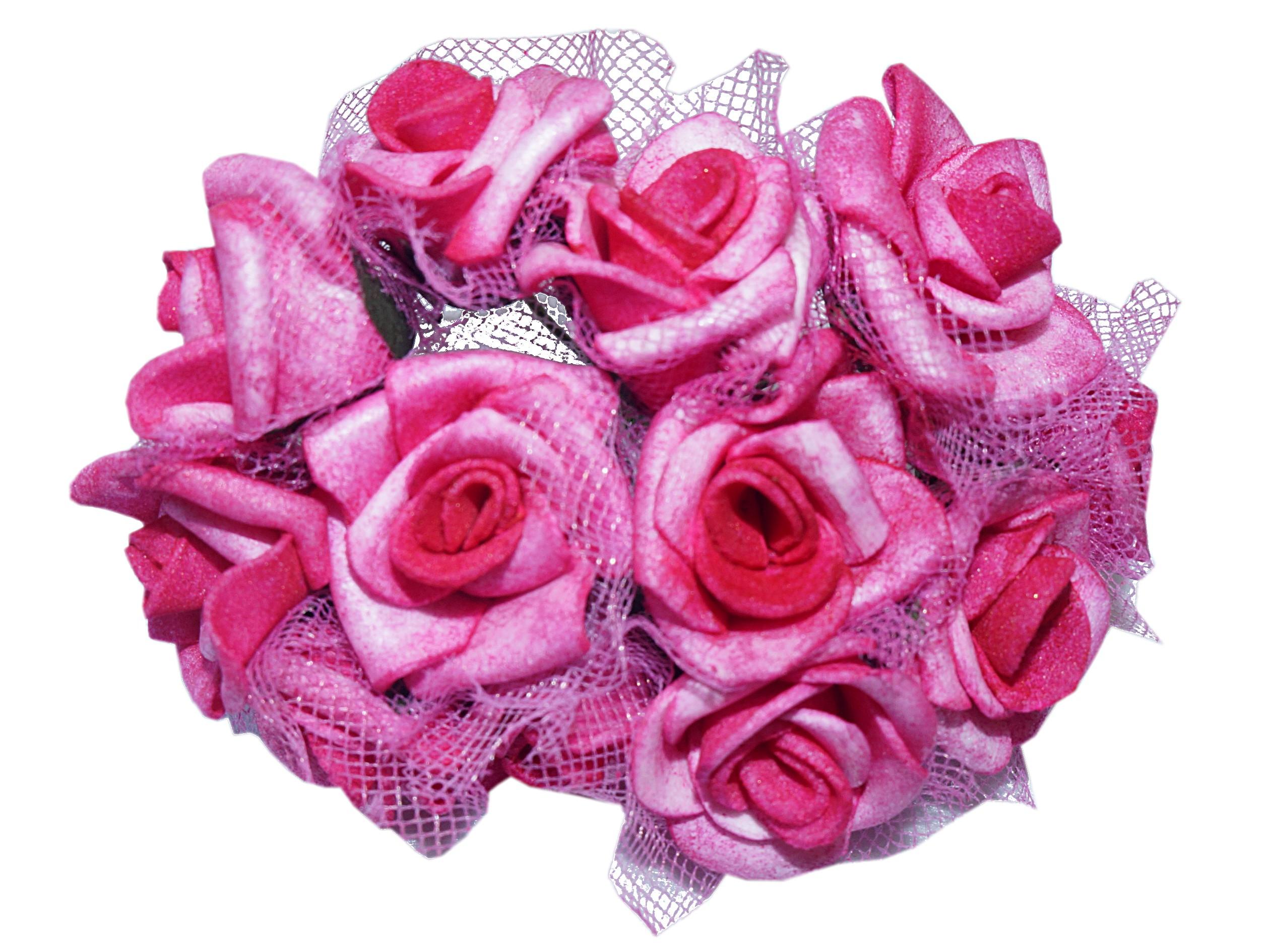 Купить M15 Роза розы из пенопласта тюль 2,5 см/12шт. 8 цветов на Otpravka - цены и фото - доставка из Польши и стран Европы в Украину.