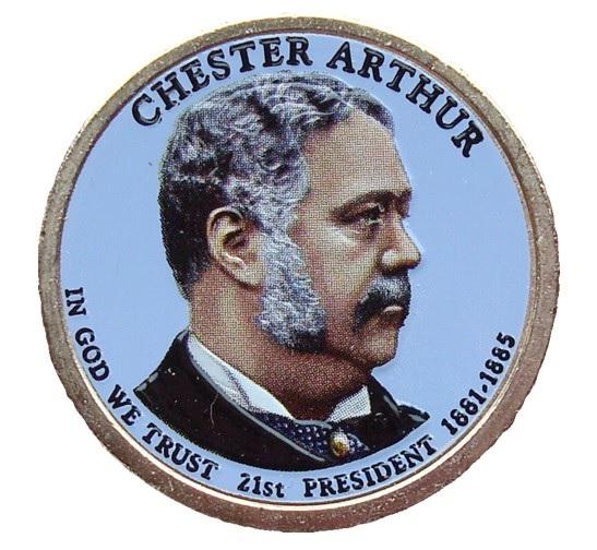 Chester Alan Arthur 2012 - obojstranná farba