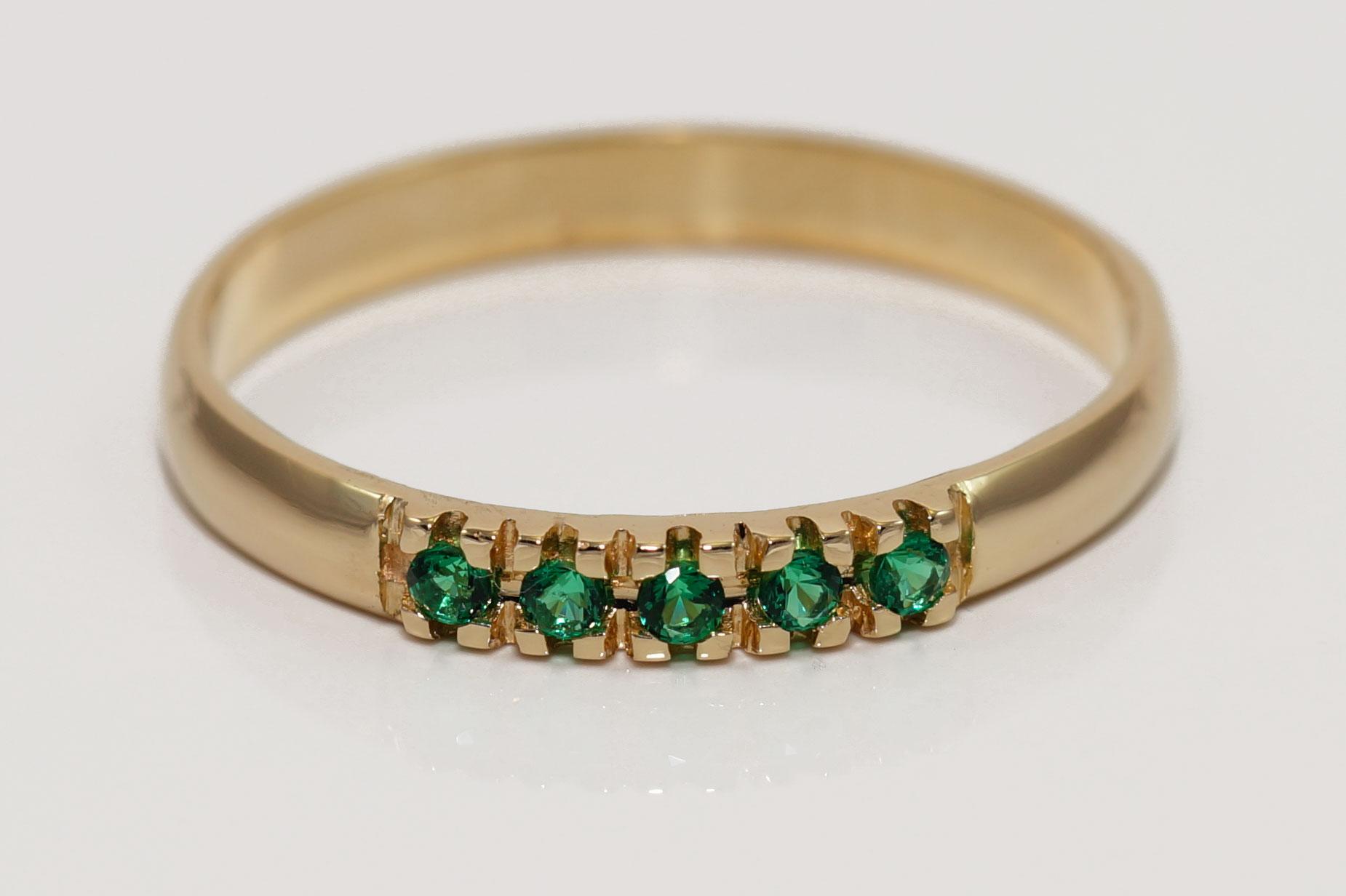Krúžok gold 585 smaragd , PROPAGÁCIA