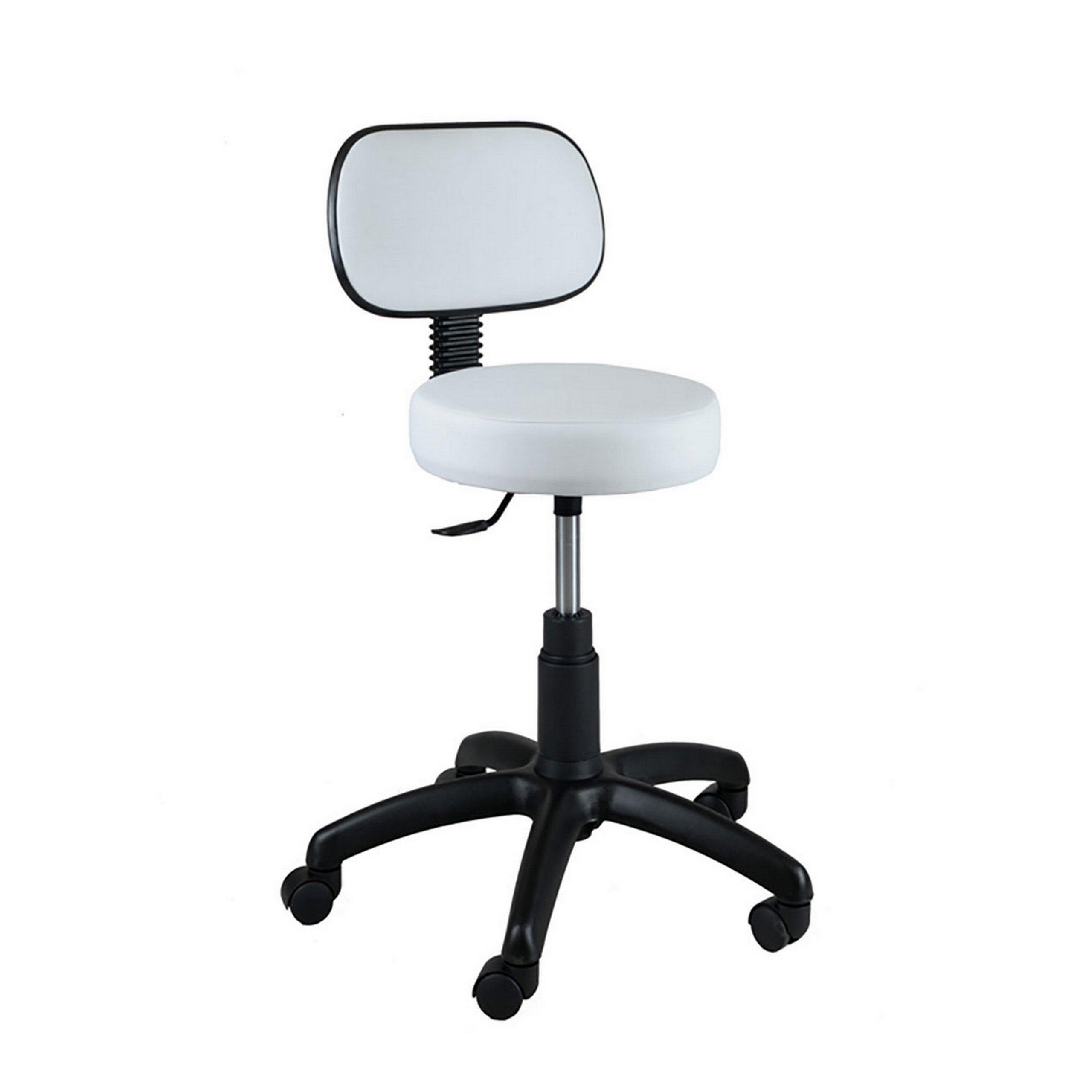 Kozmetická rotačná stolička s operadlom 24 farieb