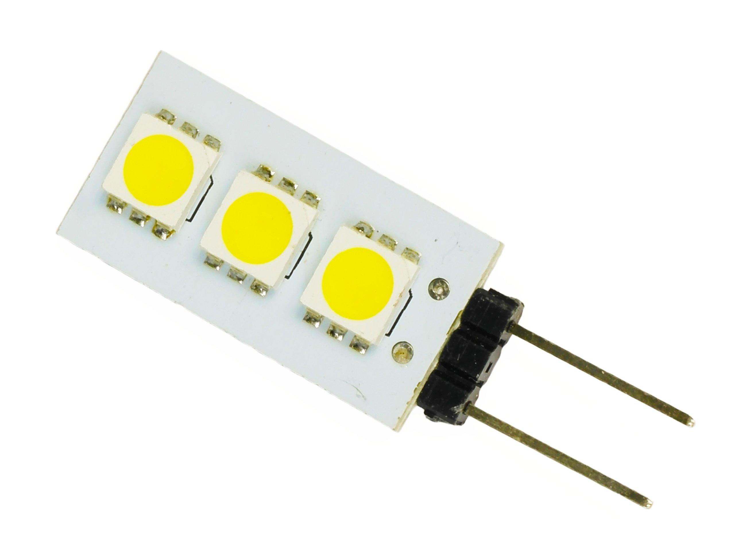 Žiarovka G4 3 LED 12V 0,7W 5050 SMD 50LM studené