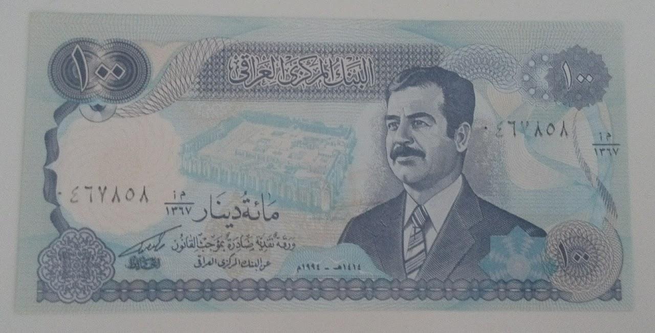 БАНКНОТЫ 100 иракский ИРАК 1994 Instagram UNC