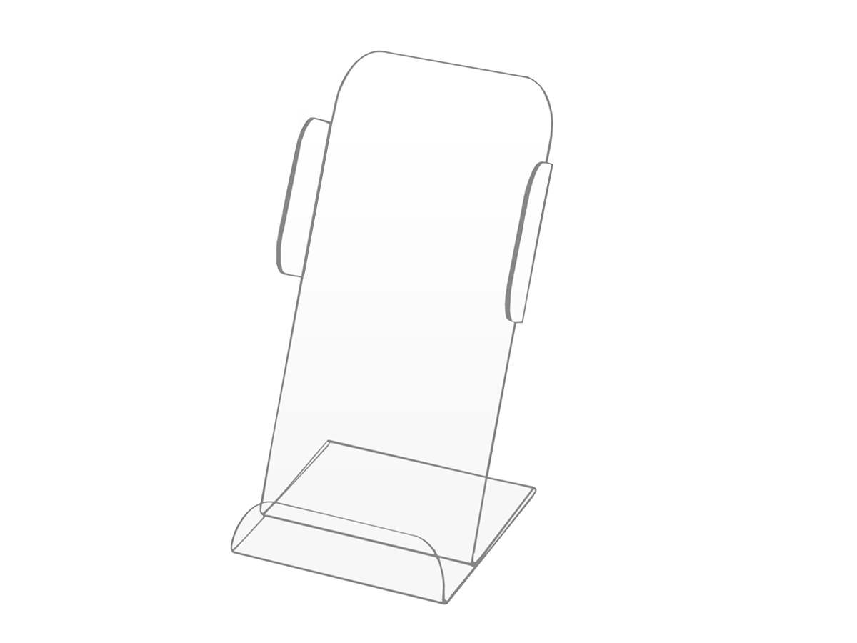 Stand Pocket Tray Flyer Folders Plexi DL
