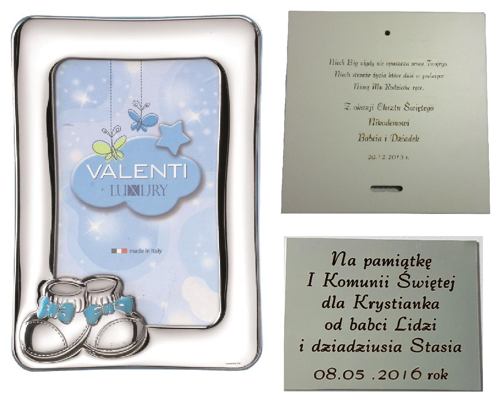FOTO RÁM STRIEBORNEJ 9x13 darček pre dieťa
