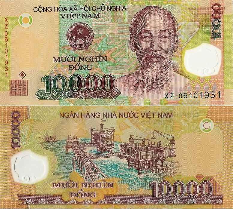 ~ Wietnam 10000 Dong P-119 2014 Polimer UNC Rzadki