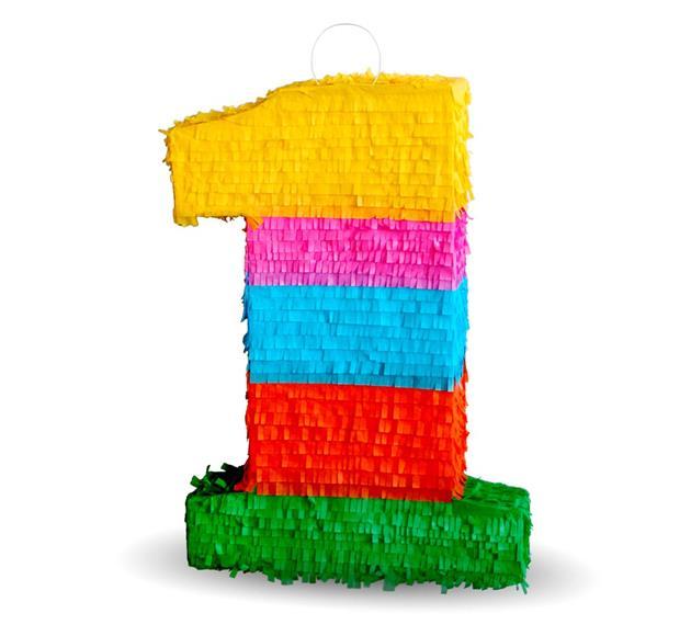 Pinita číslica 1, veľkosť 50x35x7.5cm zábavné narodeniny