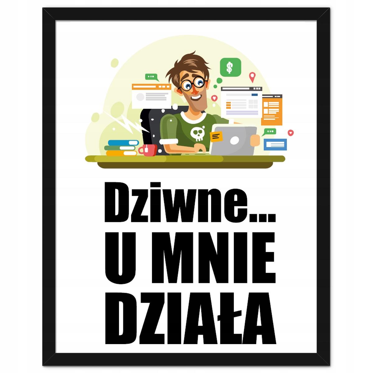 Oprawiony Plakat Prezent Dla Informatyka Jakość