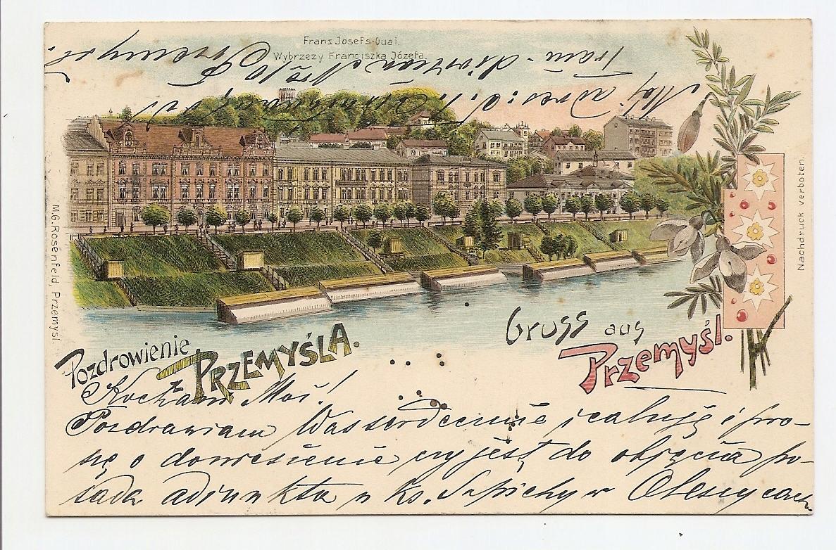 PRZEMYŚL -GRUSS AUS PRZEMYŚL -litografia 1900