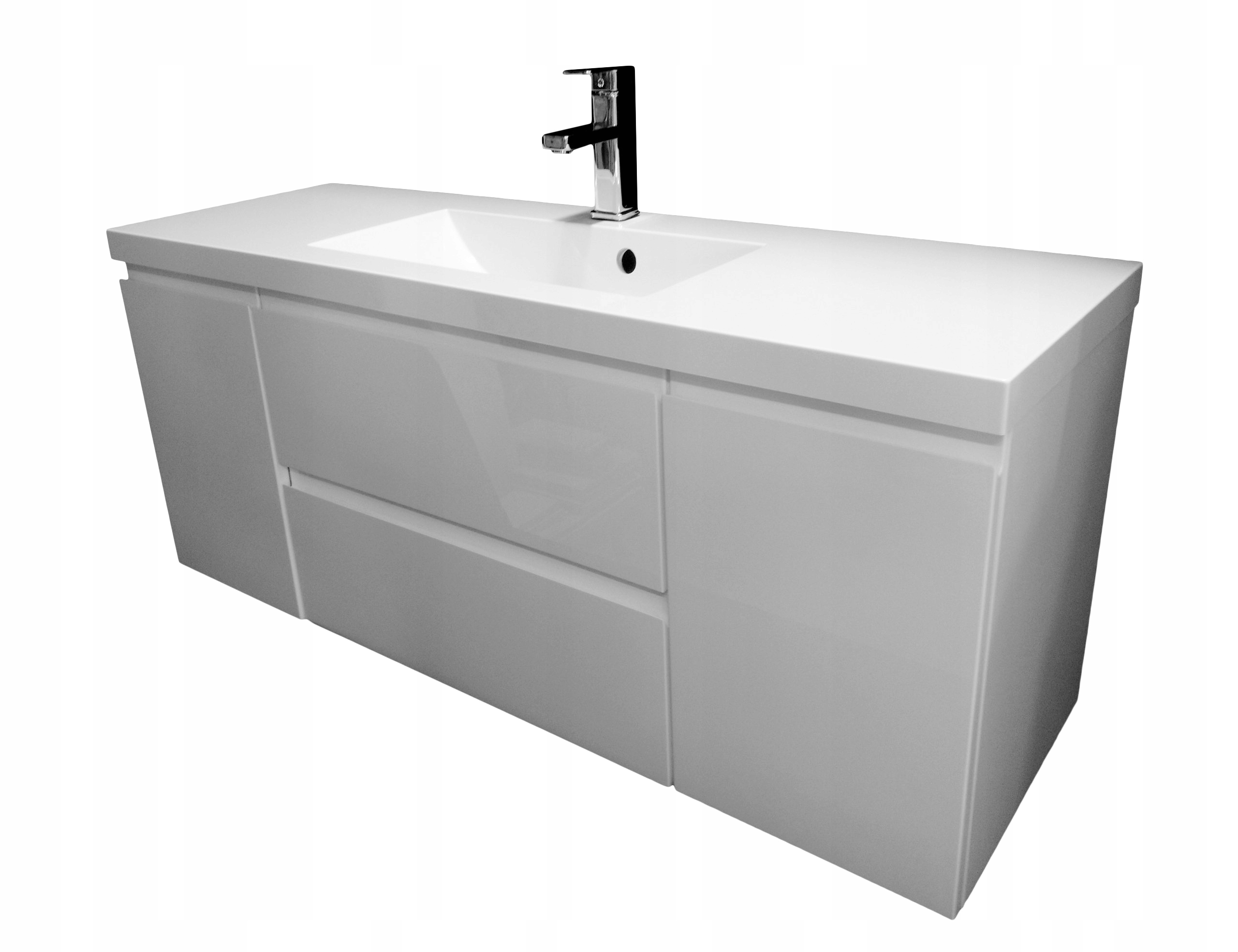 Zestaw łazienkowy szafka z umywalką 120 x 39