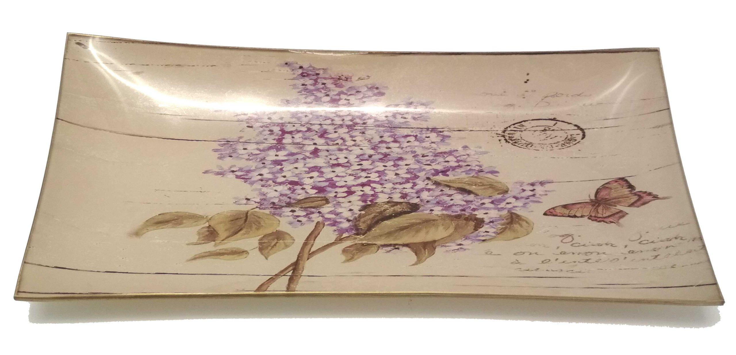 Doska dekoratívne sklo vintage lila bez 200874