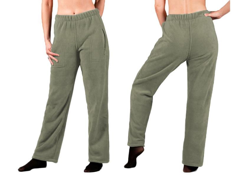 Spodnie Polarowe Dresowe Damskie Polar XXL oliwka