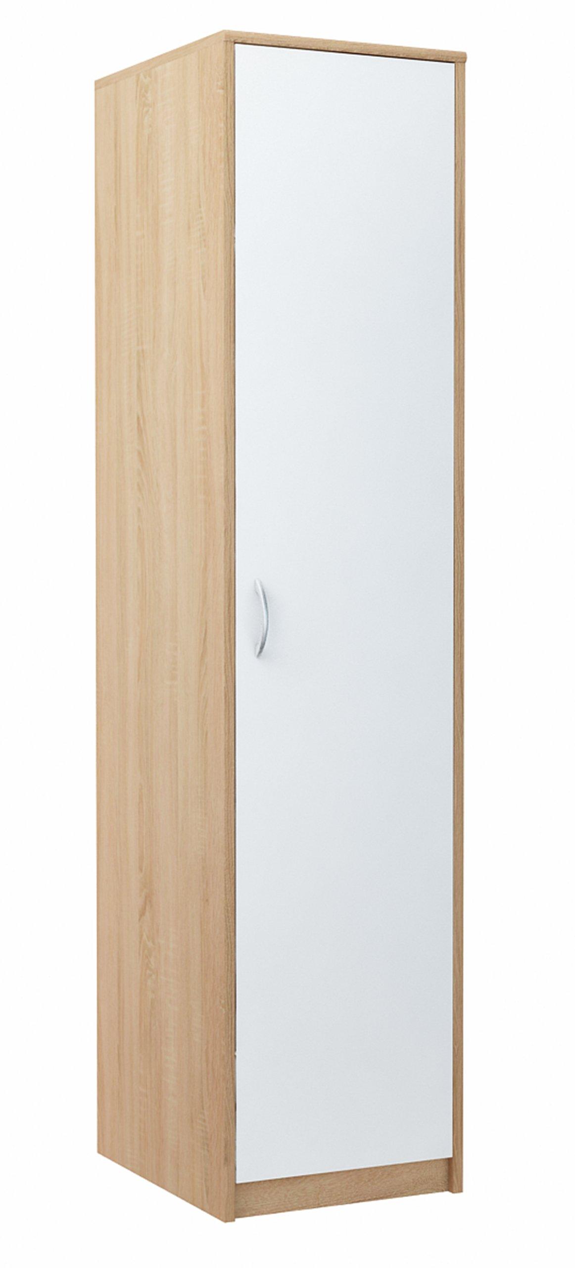 Шкаф однодверный, стойка, книжный шкаф 1Д2П БЕЛЫЙ-СОНМА