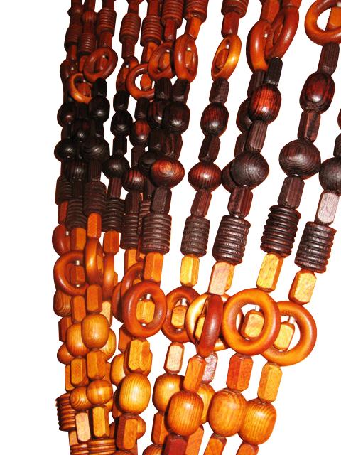 Занавеска для двери KOTAR из деревянных бусин PARAWA