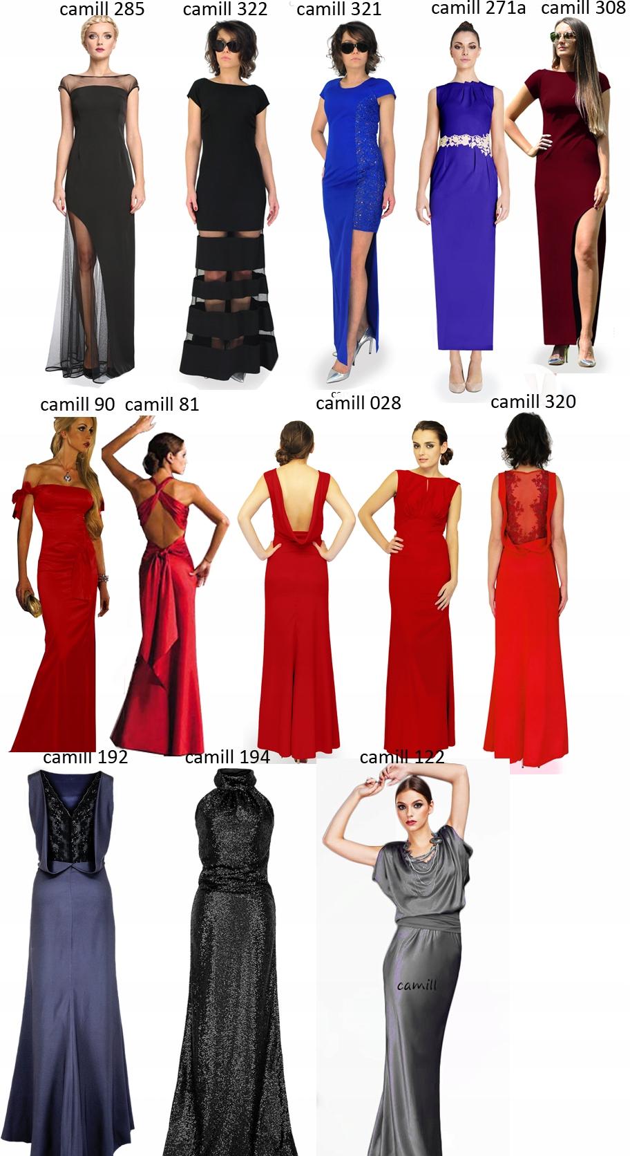 Camill 81 rybka długa suknia wieczorowa kolory 40