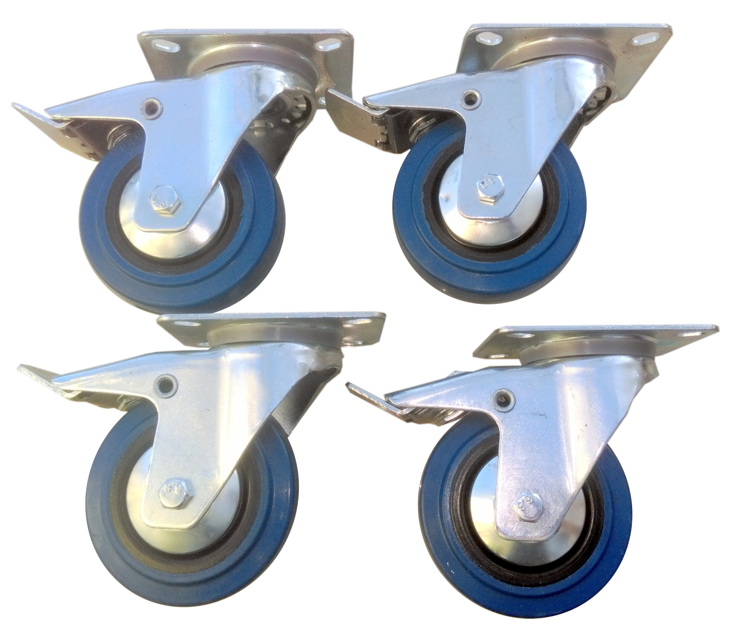 Ktorá súprava fi 100 mm 4 ks. Kruh, 500 kg brzdy