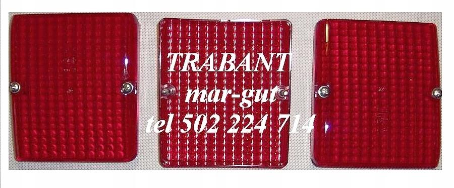 Trabant 1.1 Klosz lampy tylnej dolny CZERWONY