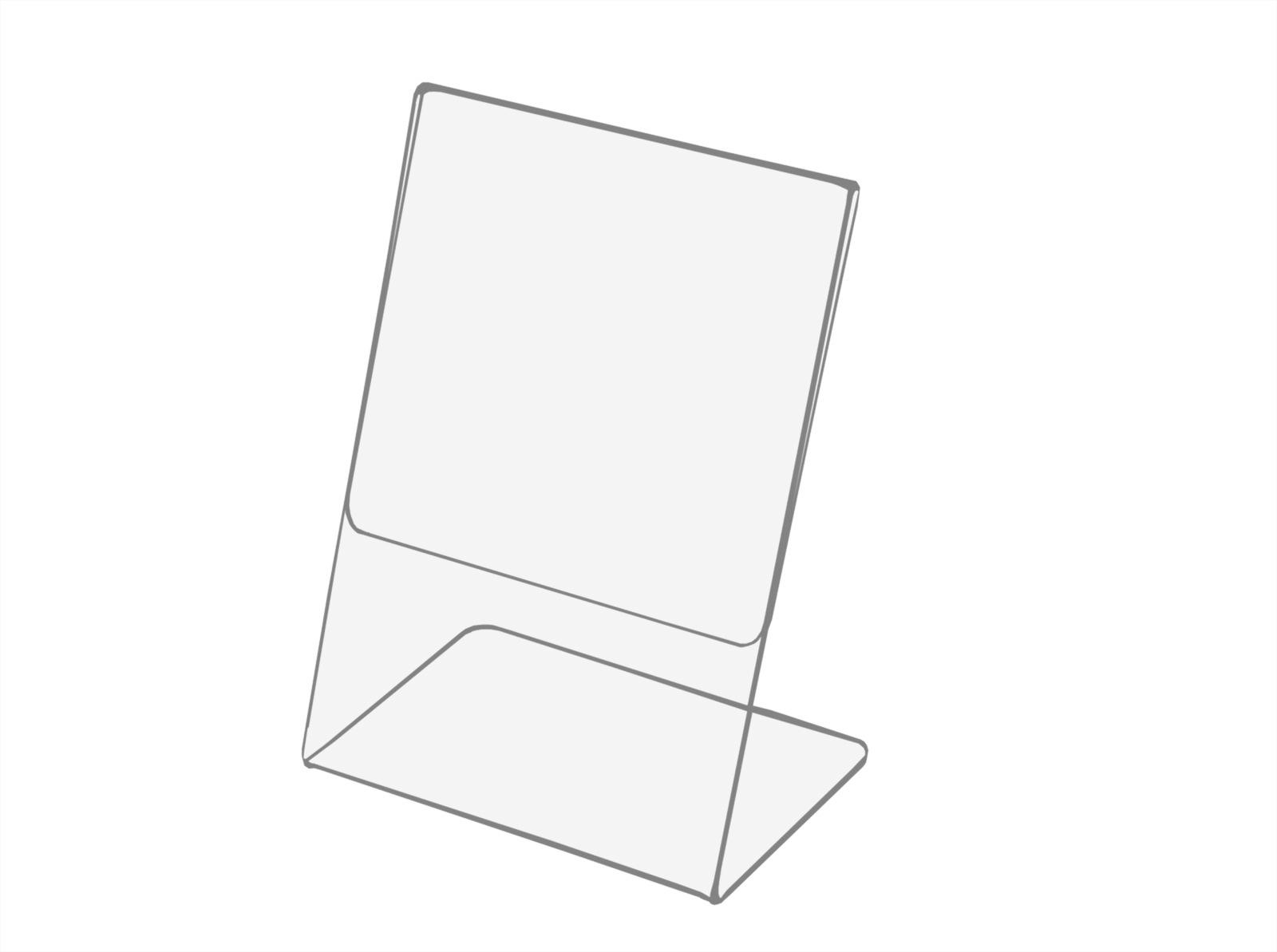 A5 Cenový stojan, popis, leták - Závery z plexi