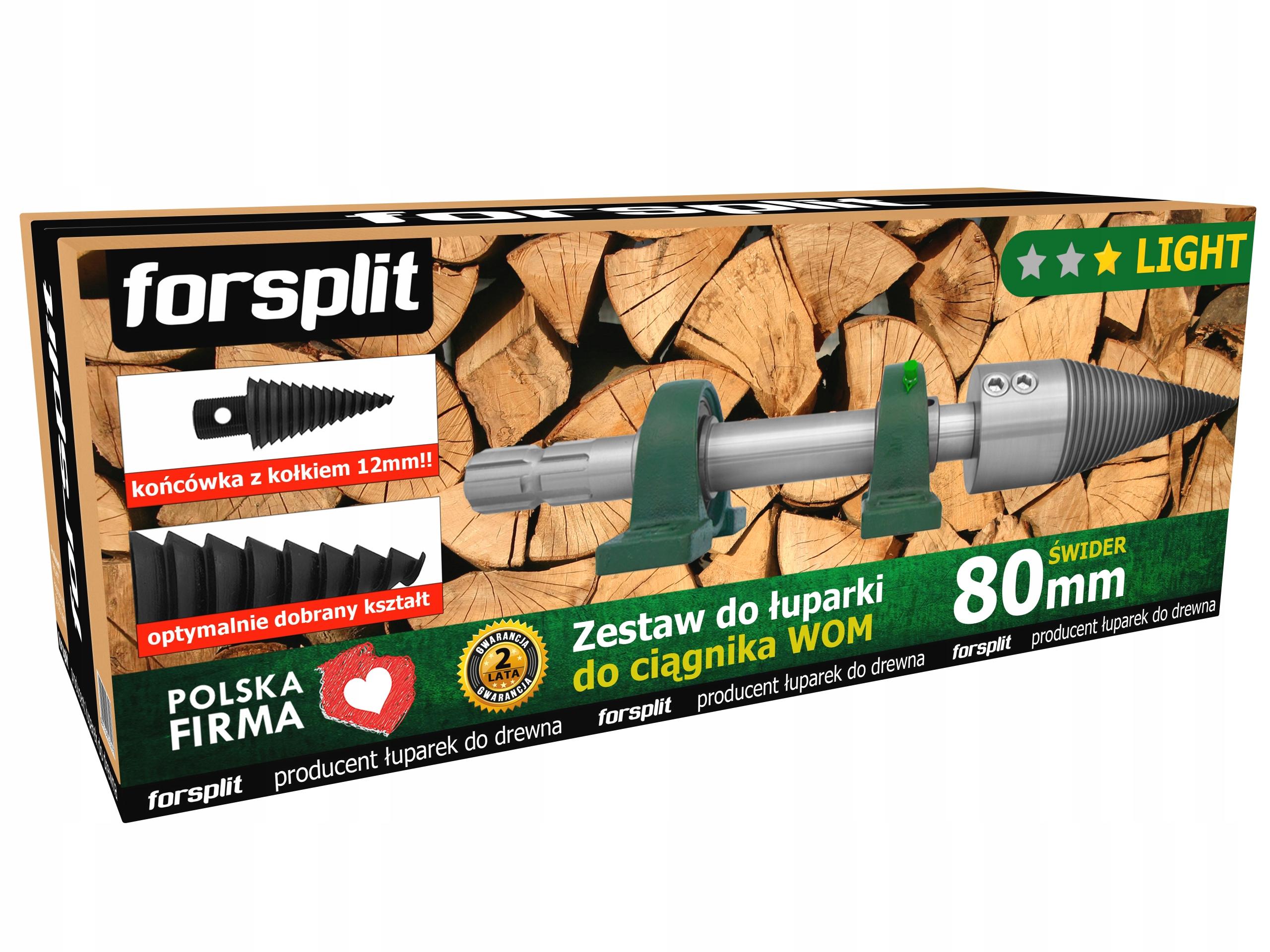Rozdeľovač dreva pre 80mm drevo na traktor (PTO)